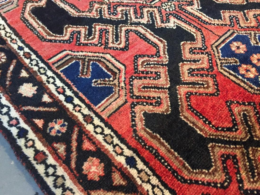 Authentic Vintage Persian Runner 3.3x9.8 - 4