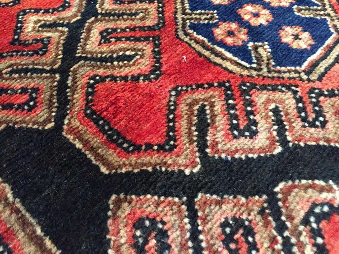 Authentic Vintage Persian Runner 3.3x9.8 - 5