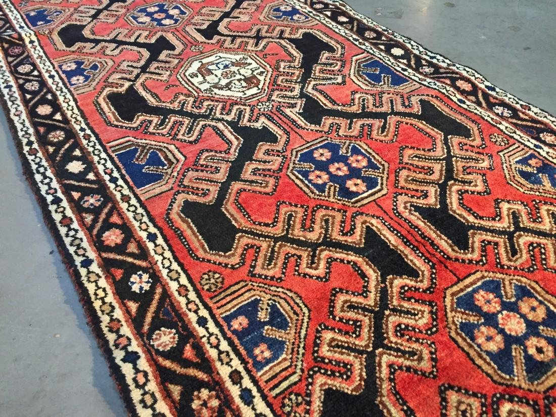 Authentic Vintage Persian Runner 3.3x9.8 - 7