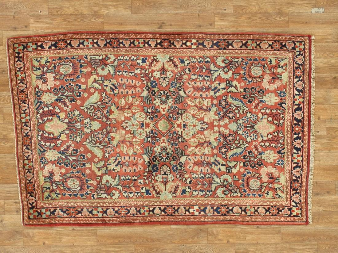 Antique Persian Sarouk Rug 3.5x5.5 - 3