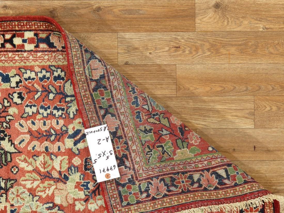 Antique Persian Sarouk Rug 3.5x5.5 - 7