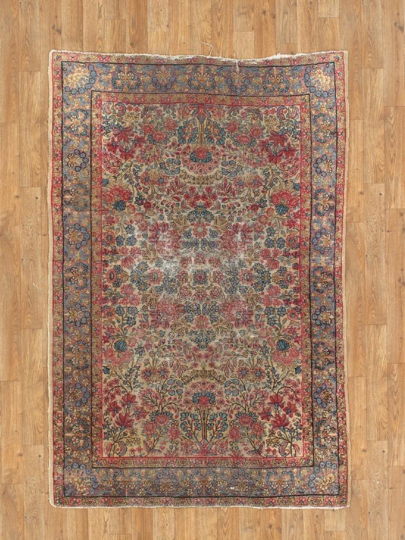 Antique Persian Kerman Lavar Rug 3.9x5.9