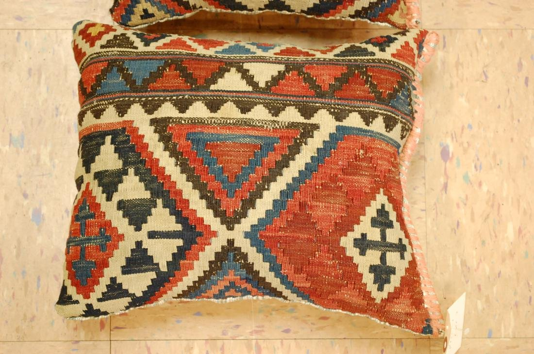 2 Fine Caucasian Kilim Pillow 1.2x1.5 - 2
