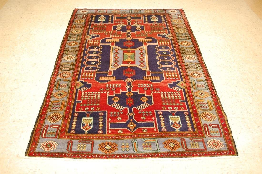 Antique Detailed Design Persian Sanneh Rug 4.6x7.6