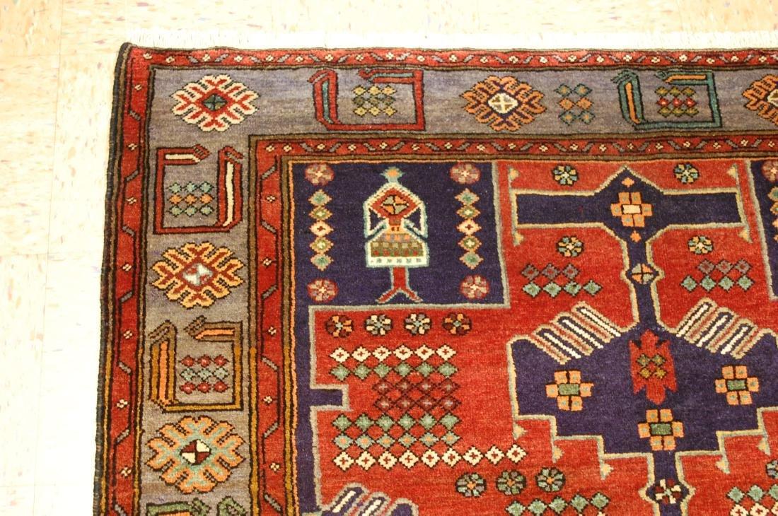 Antique Detailed Design Persian Sanneh Rug 4.6x7.6 - 4