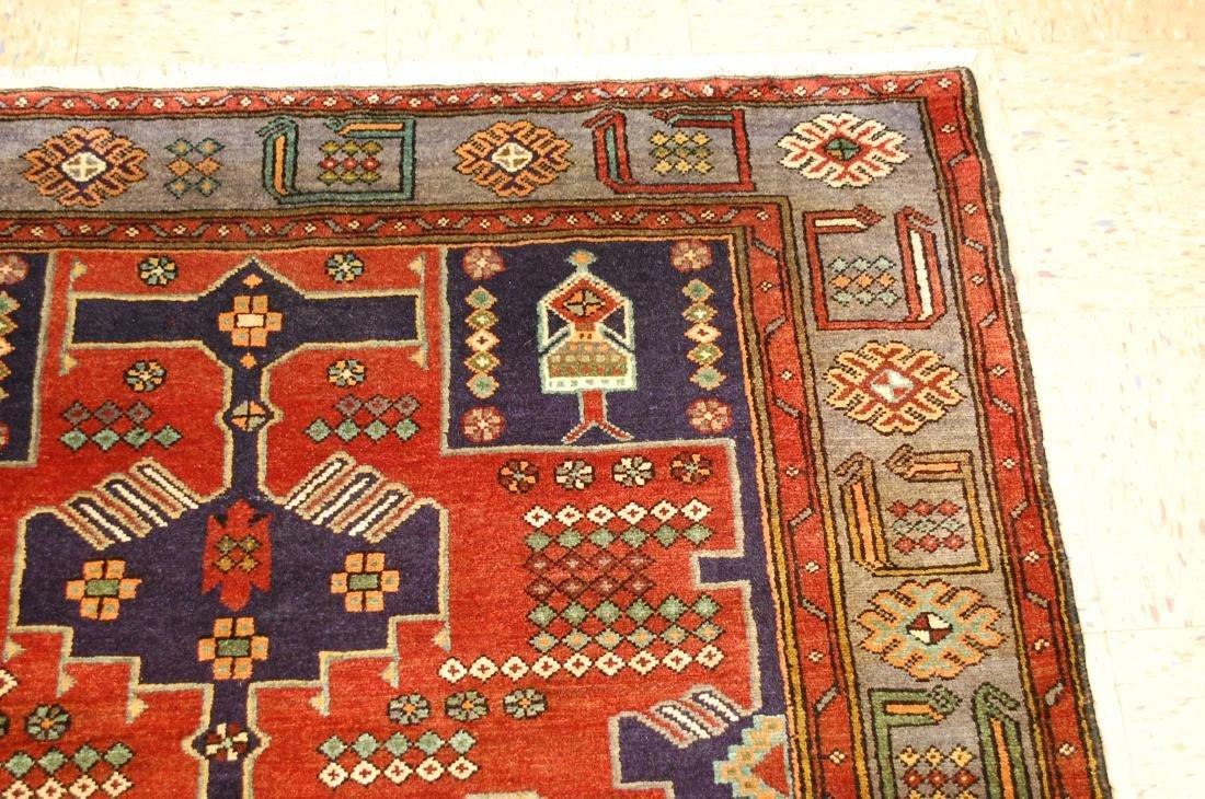 Antique Detailed Design Persian Sanneh Rug 4.6x7.6 - 5