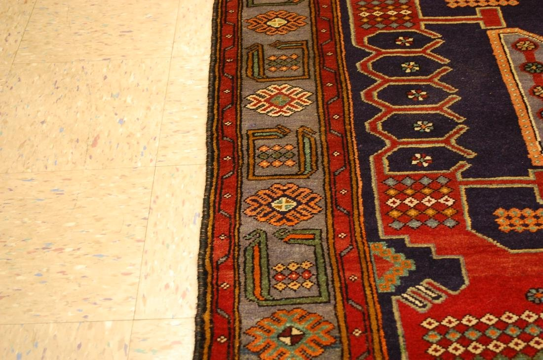 Antique Detailed Design Persian Sanneh Rug 4.6x7.6 - 7