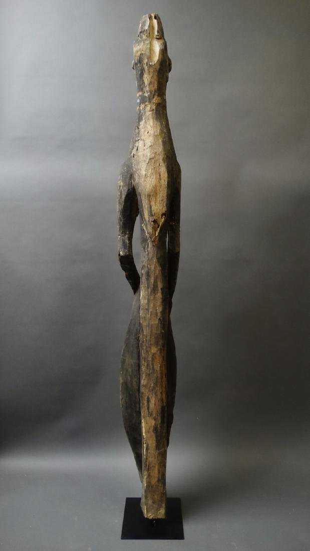 Old 1.5 Mtr Hornbill Bird Figure With Ancestor Sepik - 5