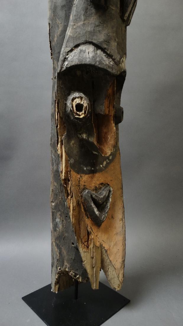 Old 1.5 Mtr Hornbill Bird Figure With Ancestor Sepik - 9