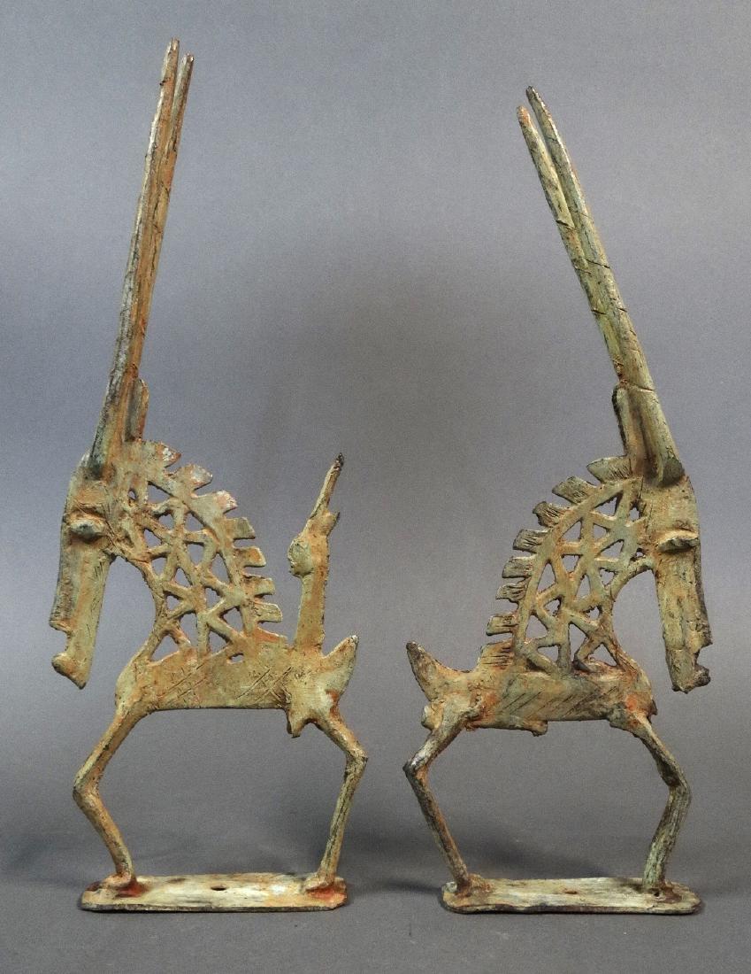Couple Tjiwara in Bronze Dogon - 3