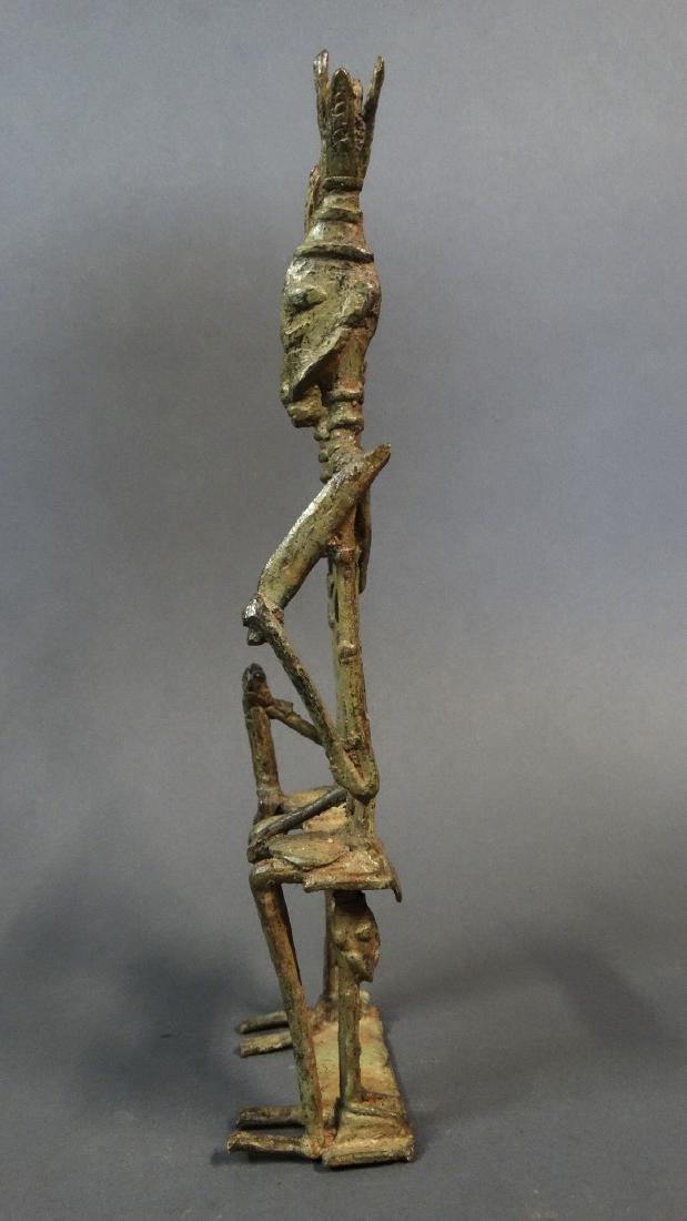 Couple Bronze Ancestors With Child Dogon - 4