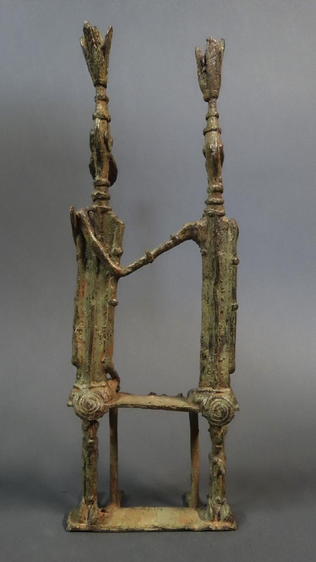 Couple Bronze Ancestors With Child Dogon - 5