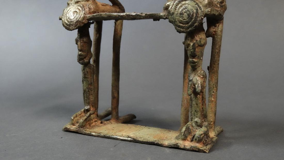 Couple Bronze Ancestors With Child Dogon - 6