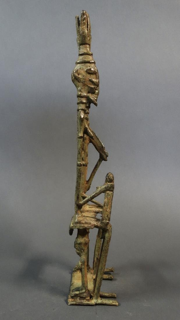 Couple Bronze Ancestors With Child Dogon - 7