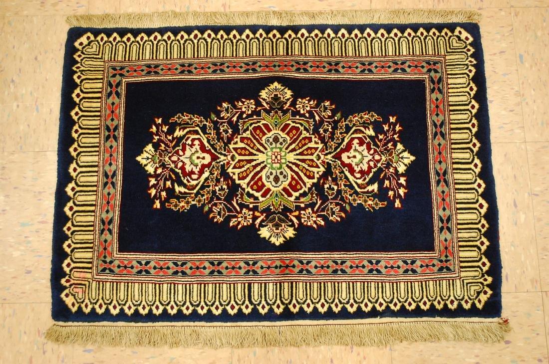 Antique Kork Wool Persian Kashan Rug 2x3