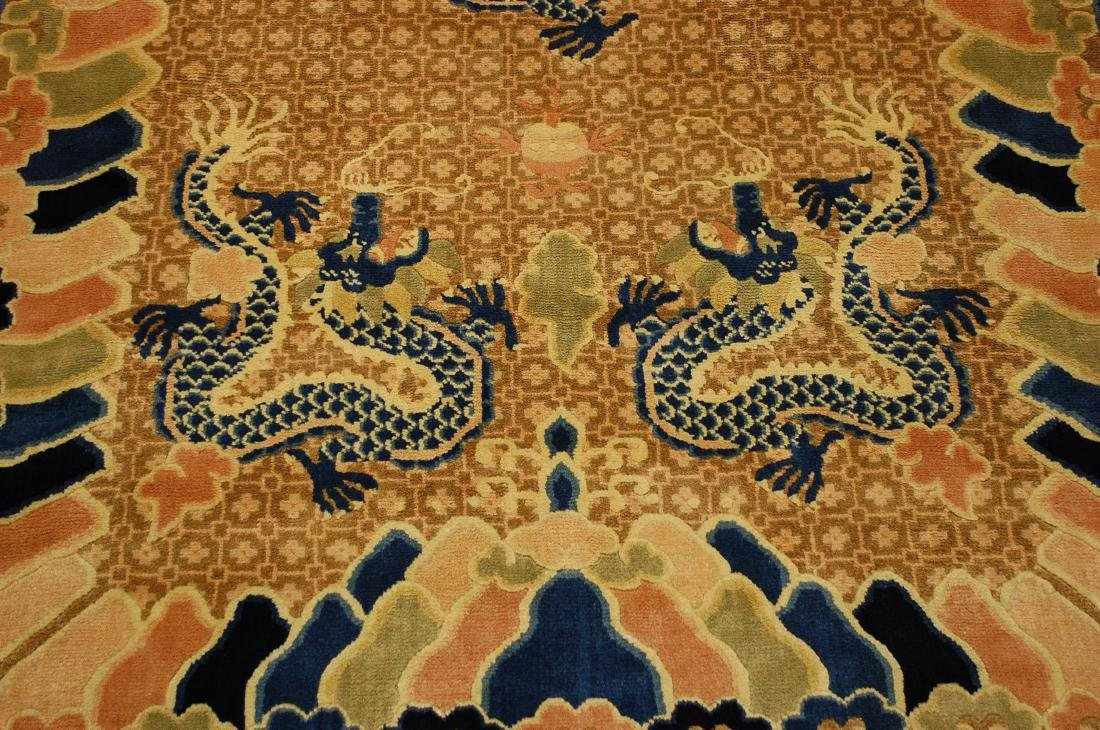 Antique Art Deco Dragon Design Chinese Rug 4x7 - 10