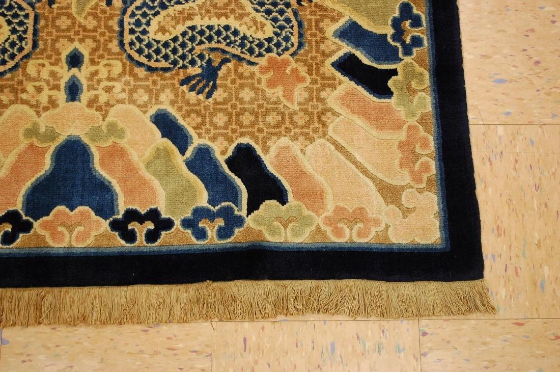 Antique Art Deco Dragon Design Chinese Rug 4x7 - 2