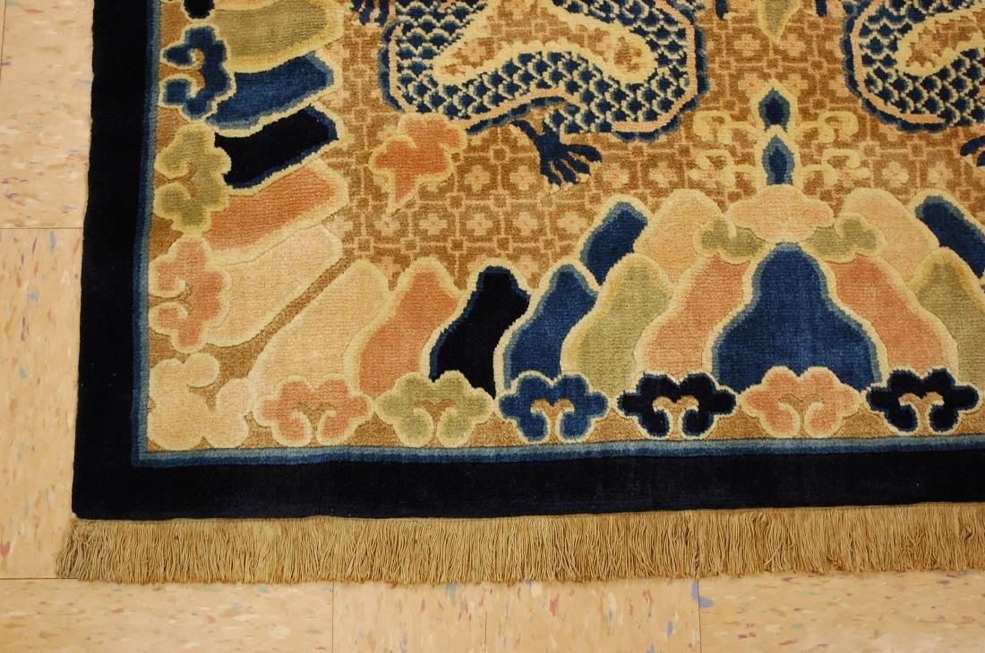 Antique Art Deco Dragon Design Chinese Rug 4x7 - 3
