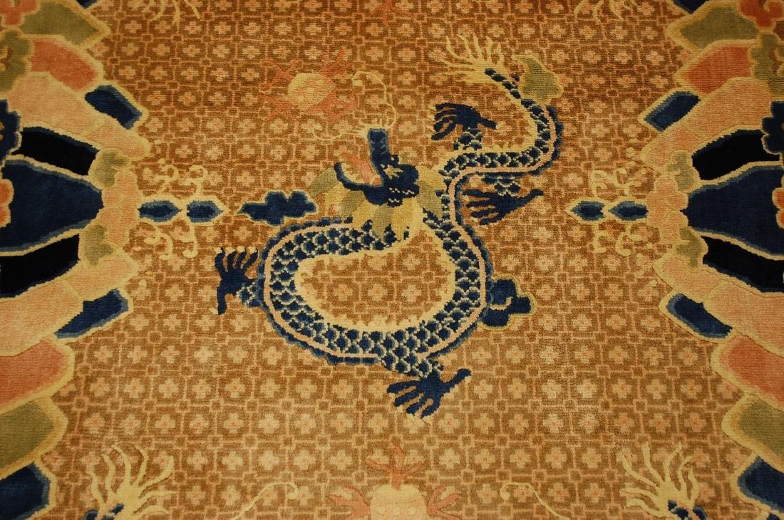 Antique Art Deco Dragon Design Chinese Rug 4x7 - 5