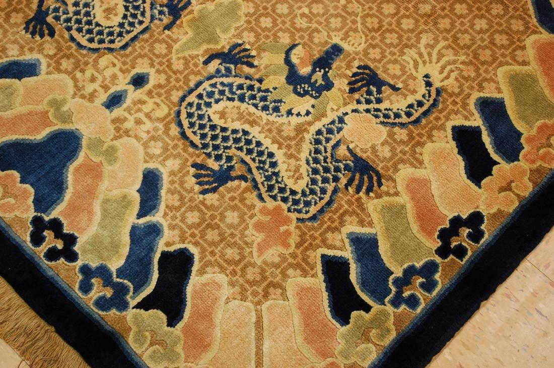 Antique Art Deco Dragon Design Chinese Rug 4x7 - 6