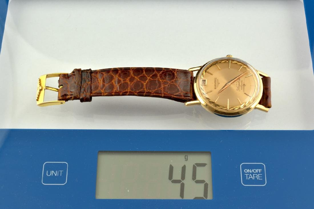 Rare Longines Flagship De Luxe Rose Gold Case And Dial - 10