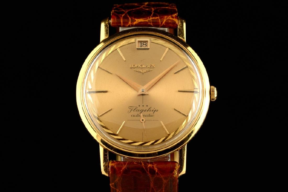 Rare Longines Flagship De Luxe Rose Gold Case And Dial