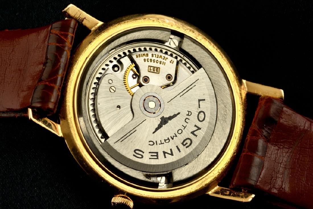 Rare Longines Flagship De Luxe Rose Gold Case And Dial - 6