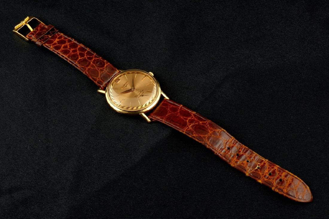 Rare Longines Flagship De Luxe Rose Gold Case And Dial - 9
