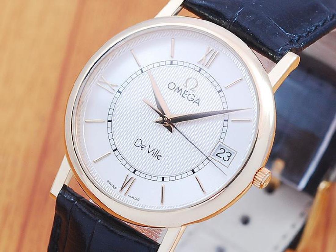 Omega De Ville 18K Solid Gold Men's Watch!