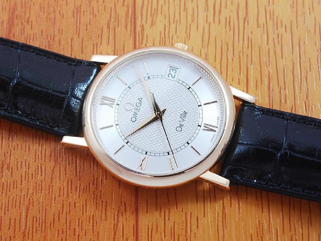Omega De Ville 18K Solid Gold Men's Watch! - 4