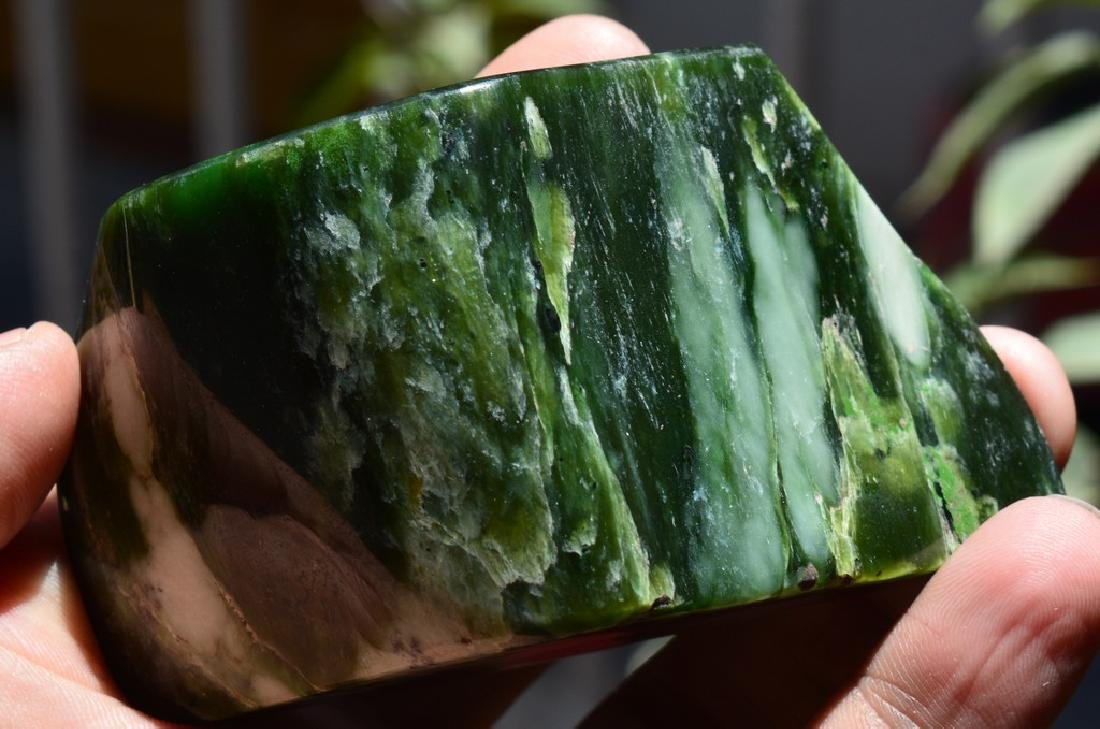 Best Quality Green Nephrite Tumble - 3