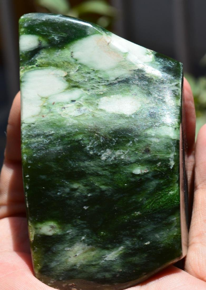 Best Quality Green Nephrite Tumble - 4