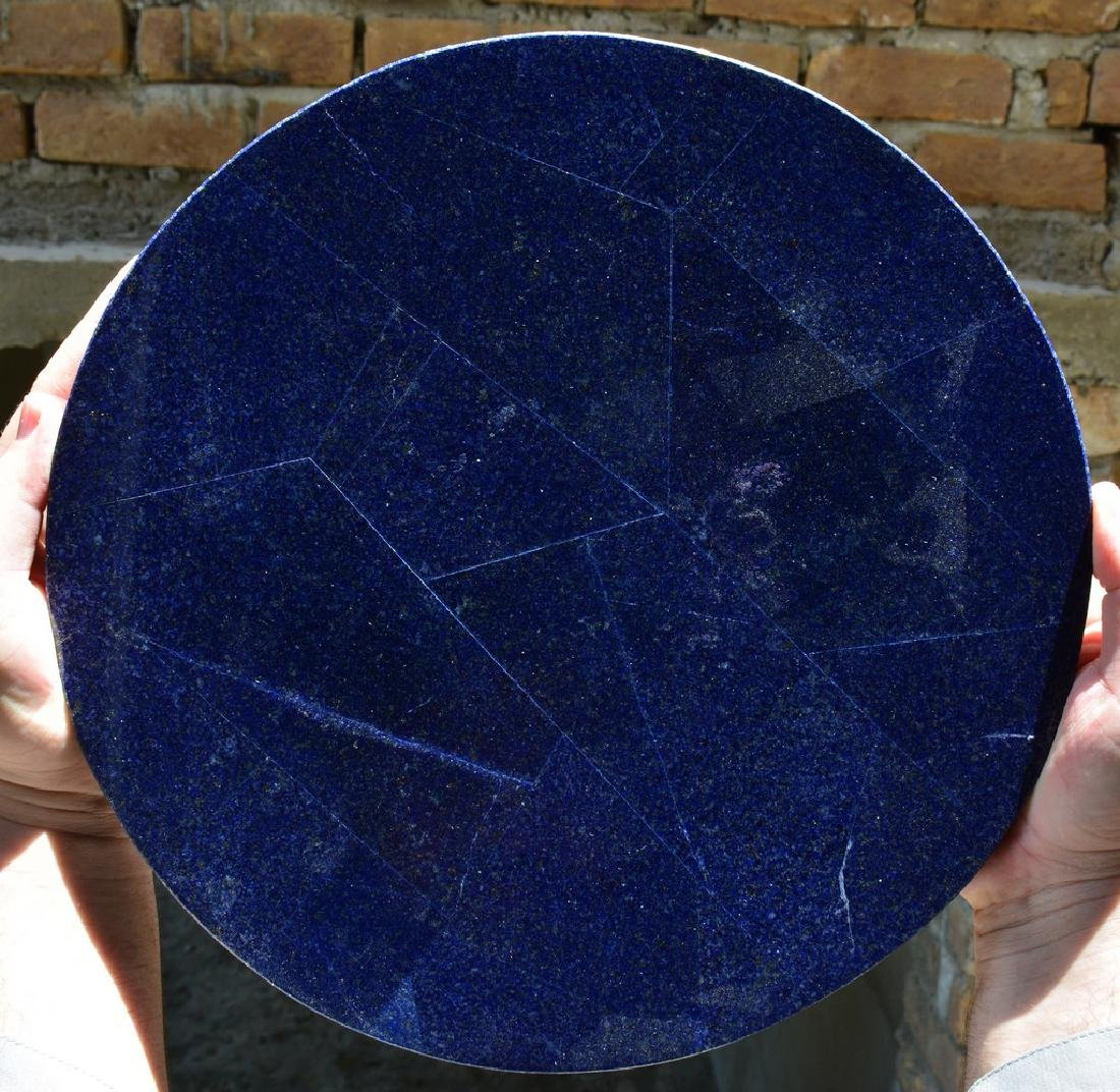Natural Lapis Lazuli With Marble Combine Table - 2