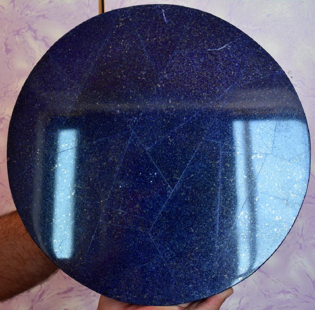 Natural Lapis Lazuli With Marble Combine Table - 6