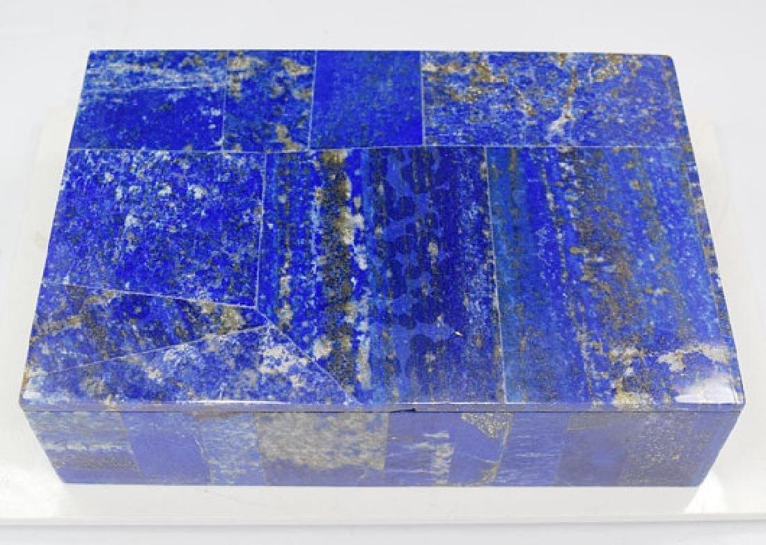 Fine Lapis Lazuli Jewelry Box - Decorative ~ Handmade ~