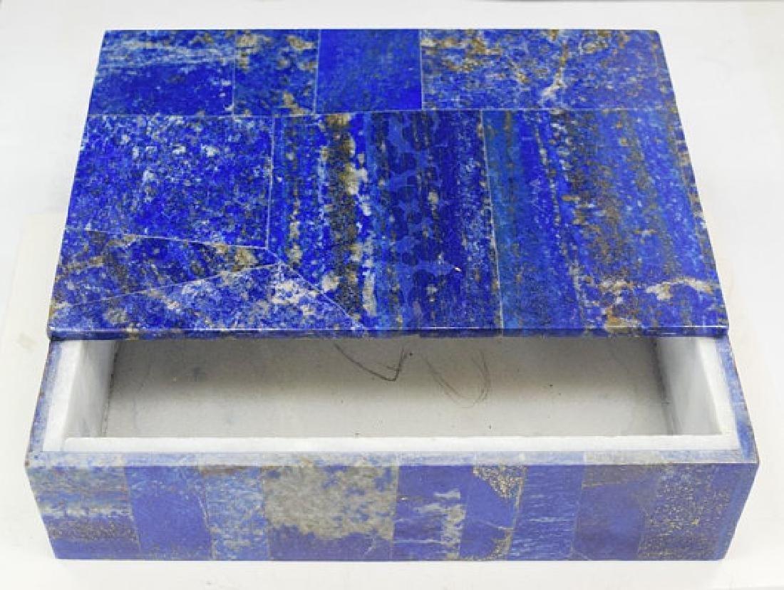 Fine Lapis Lazuli Jewelry Box - Decorative ~ Handmade ~ - 2