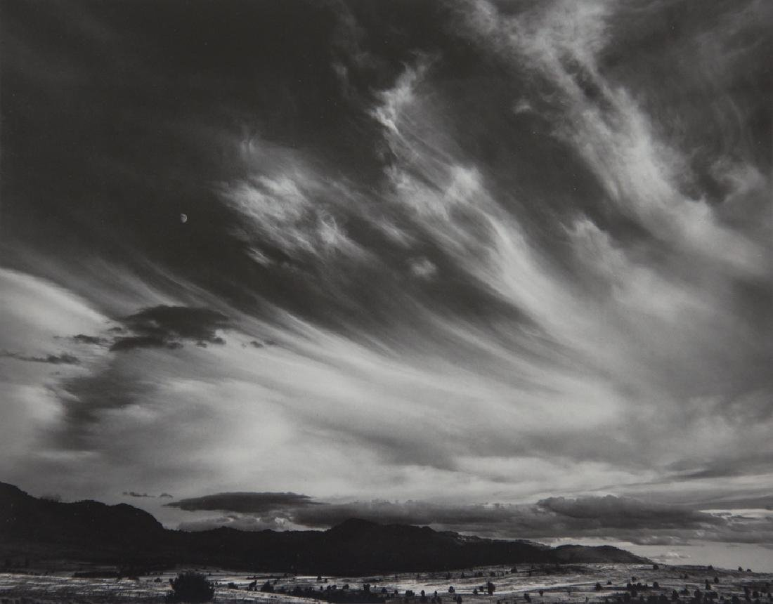 ANSEL ADAMS - Moon and Clouds, Northern California