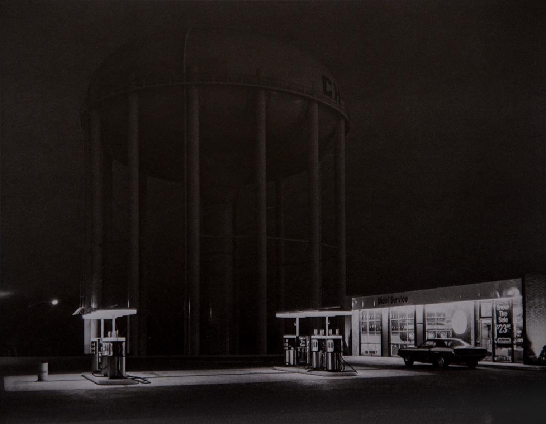 GEORGE A. TICE - Petit's Mobil Station and Watertower,