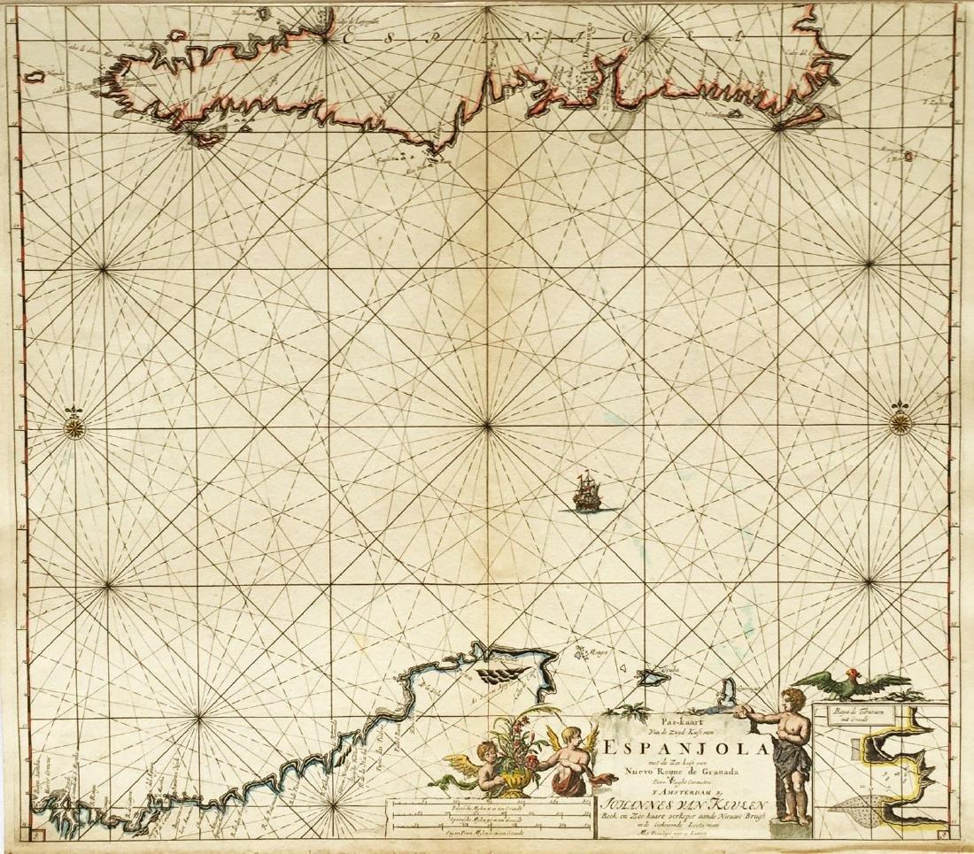 van Keulen: Southern Hispaniola/Northern South America
