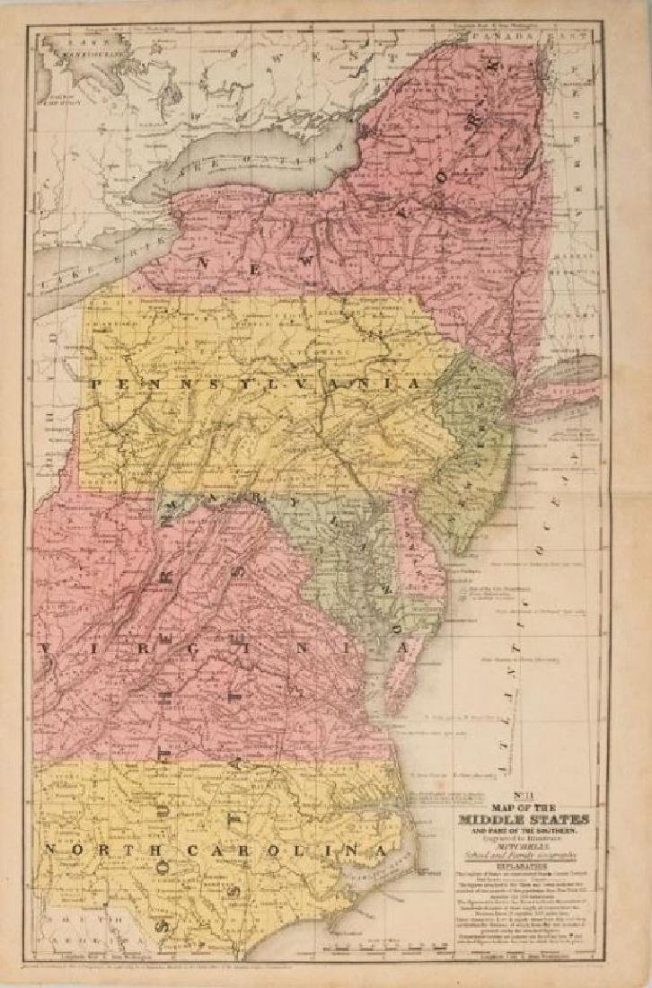 1839 Mitchell Map of New York to North Carolina -- No.