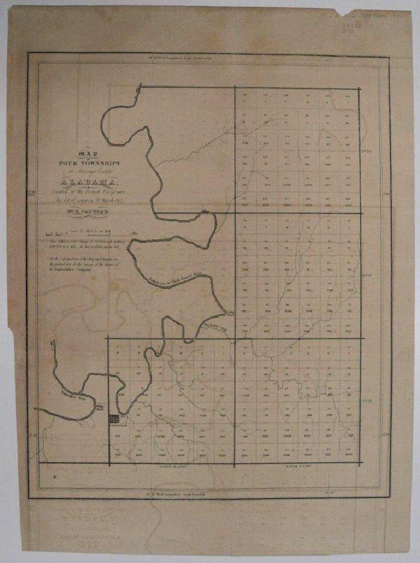 Map of Four Townships in Marengo County Alabama;