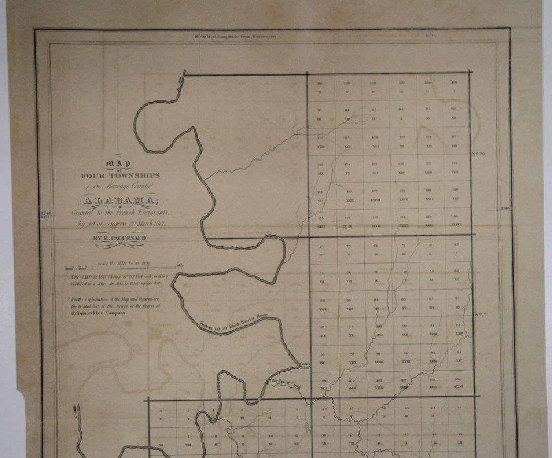 Map of Four Townships in Marengo County Alabama; - 3