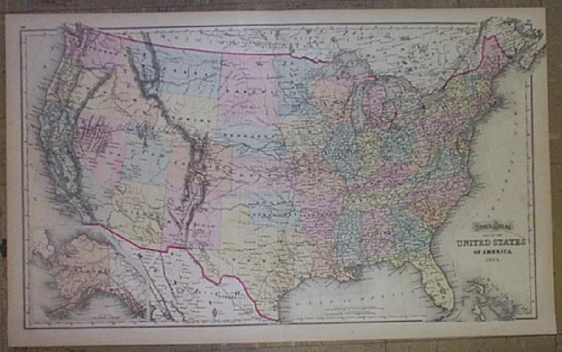 Gray's Atlas Map of the United States of America