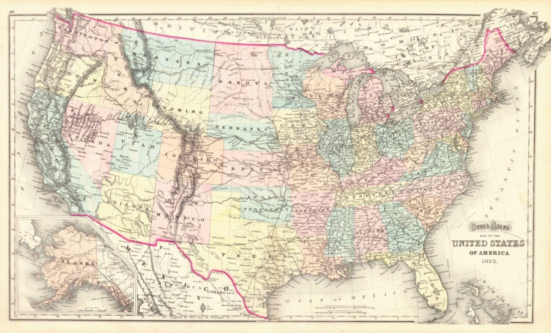 Gray's Atlas Map of the United States of America - 2
