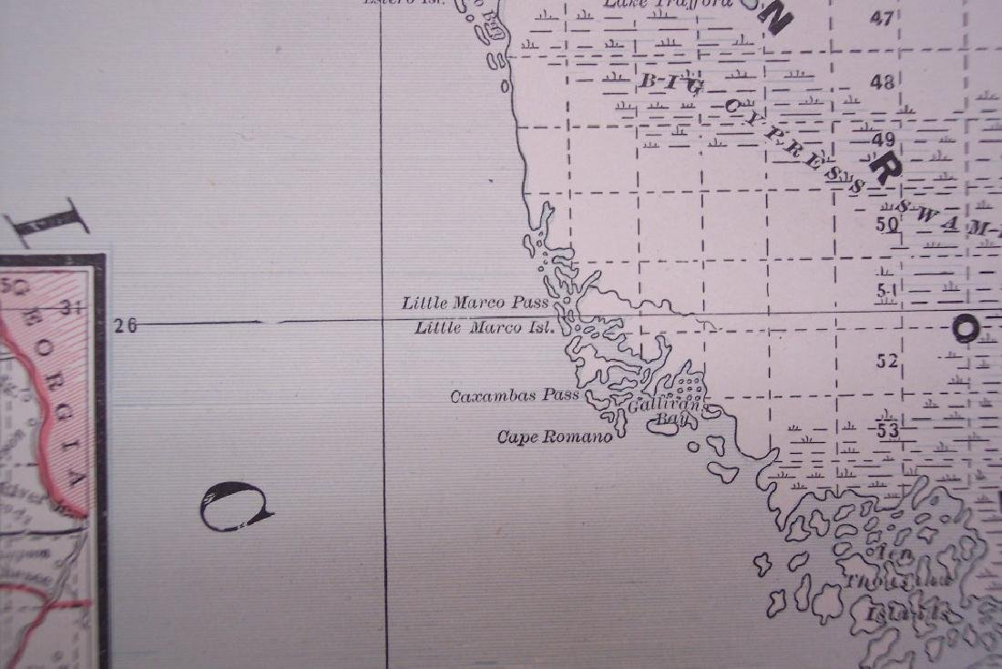 Railroad and County Map of Florida. - 2