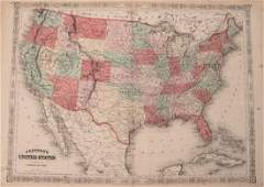 1864 Johnson Map of the United States -- Johnson's