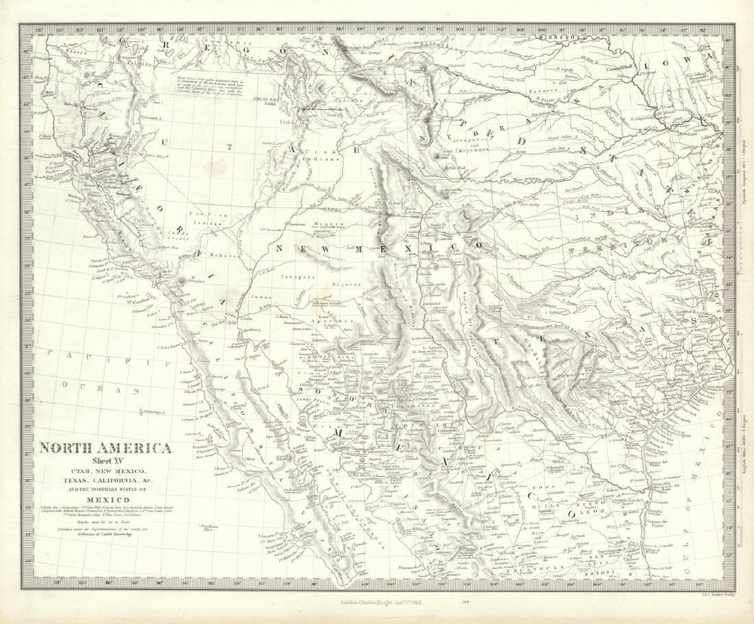 North America Sheet Xv Utah, New Mexico, Texas,