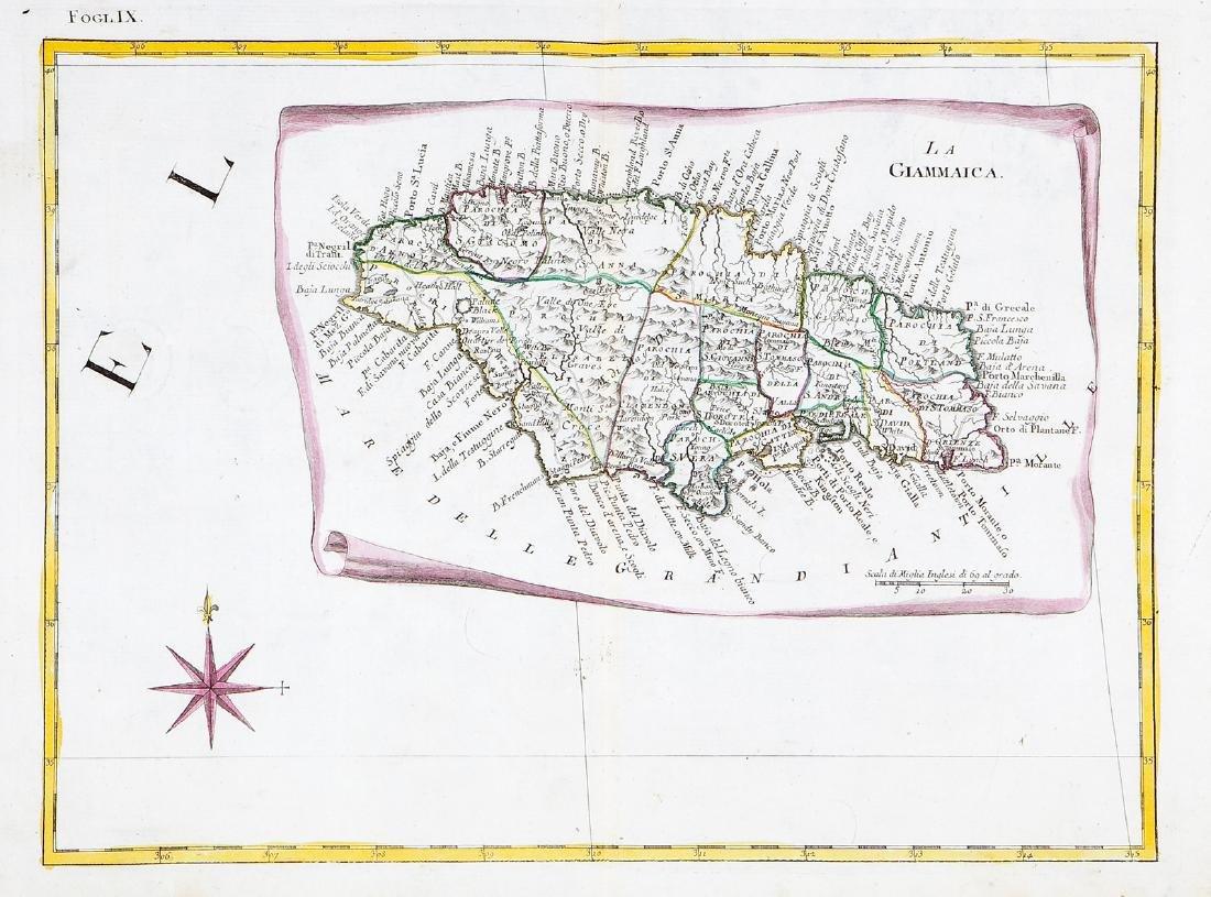 Zatta: Jamaica Map on a Scroll