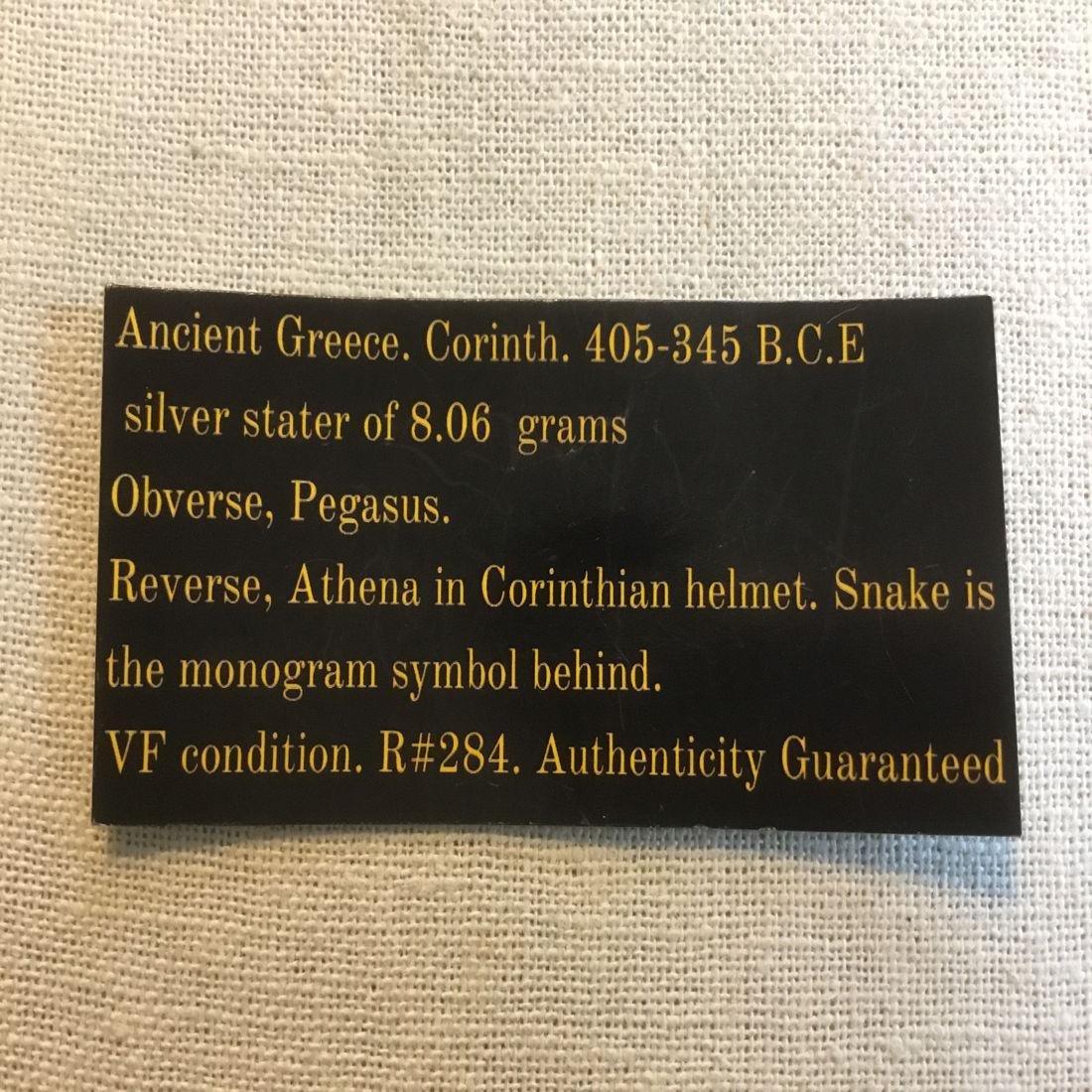 Ancient Greece. Corinth. 404-345 BCE. Pegasus/ Athena. - 4