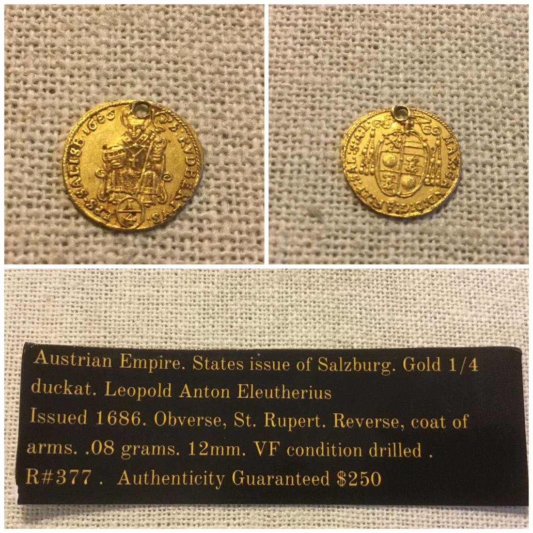 Baroque Europe, Austrian Empire. Salzburg gold ducat. - 2